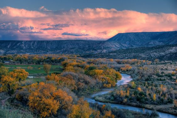Sunset outside of Taos, New Mexico