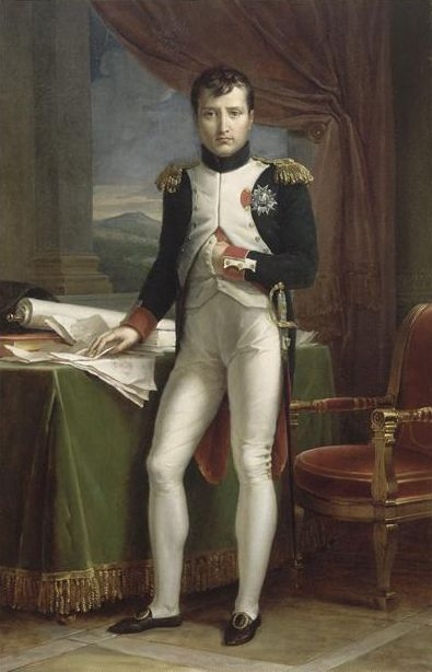 Napoleon Bonaparte  1769-1821.  Probably the most brilliant military commanders of all time. His Napoleonic Code has been a major influence on civil law that continues even today.