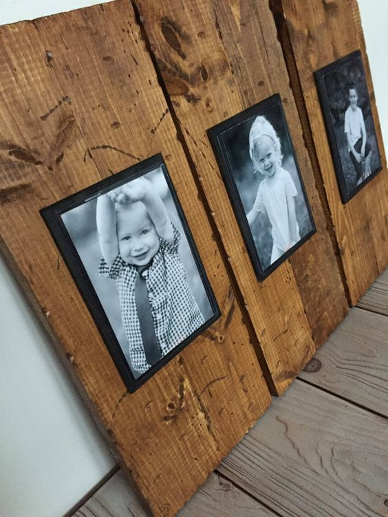 picture frame set rustic frame picture by mysideofthegarage
