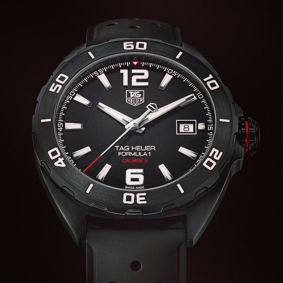 "@calibre11's photo: ""New TAG Heuer Formula 1 Full Black Calibre 5 looks the part- really like this one #tagheuer #tagheuerformula1 #formula1 #f1 #calibre11"""