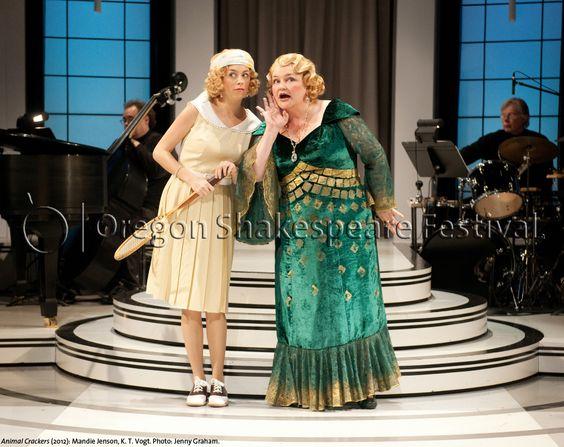 Oregon Shakespeare Festival. ANIMAL CRACKERS (2012): Mandie Jenson and K. T. Vogt. Photo: Jenny Graham.