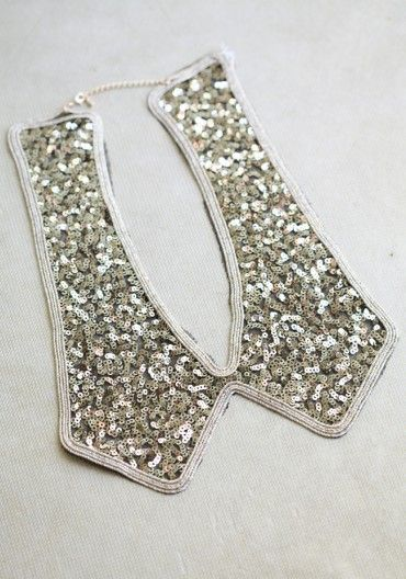 Downtown Sequined Collar... I need now!