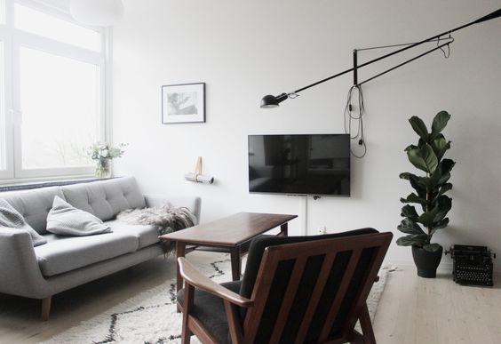 scandinavian living room, flos 265, sofakompagniet, muuto, west elm rug via http://www.scandinavianlovesong.com/