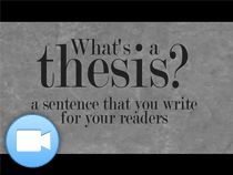 thesis statement lessons middle school