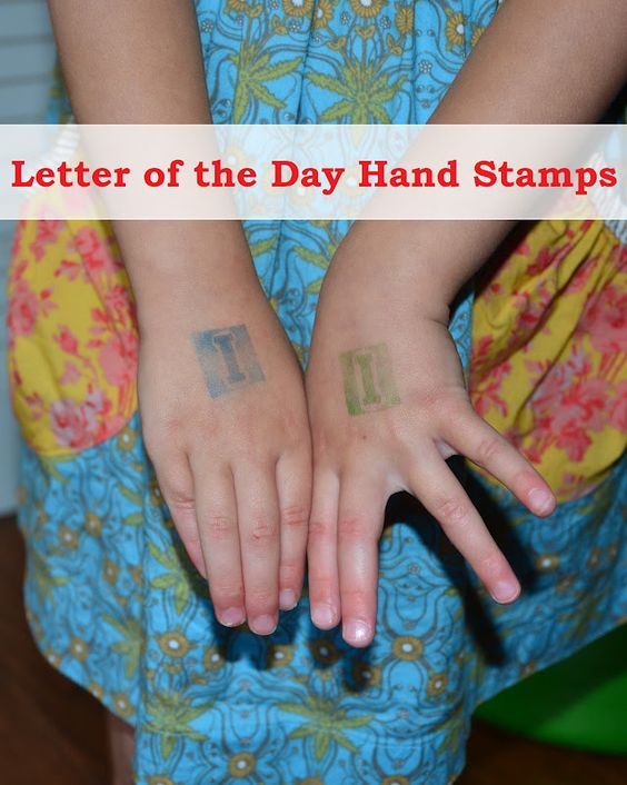 Letter of the Day Hand Stamps.