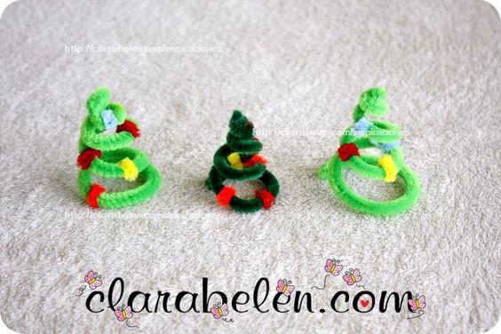 C mo hacer adornos navide os con limpiapipas rbol de - Adorno de navidad manualidades ...