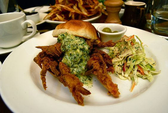soft shell crab po' boy with tartar sauce | Flickr - Photo Sharing ...