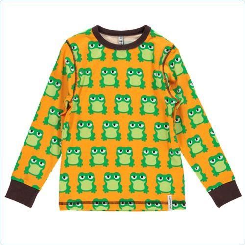 Maxomorra Shirt Frösche gelb/grün - LolaKids