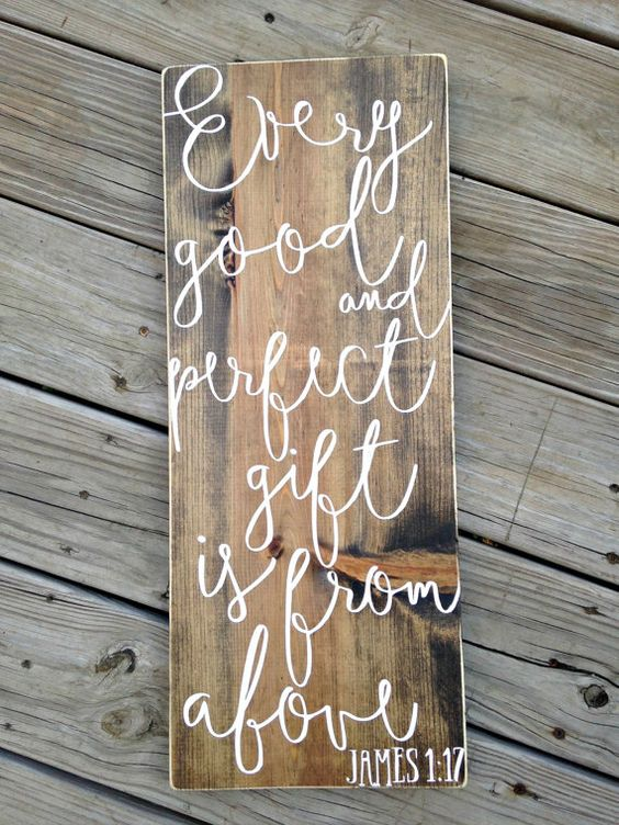 Bible verse wall art scripture signs James by WoodenThatBeSomethin