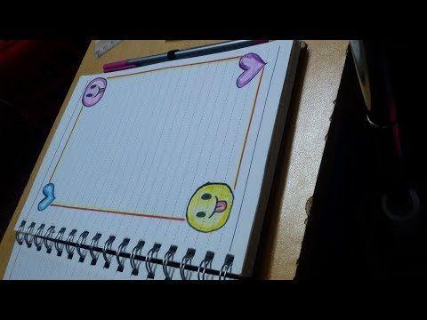 تزيين دفاتر اشكال ايموجي حلوة وسهلة Youtube Page Borders Design Colorful Borders Design Borders Bullet Journal