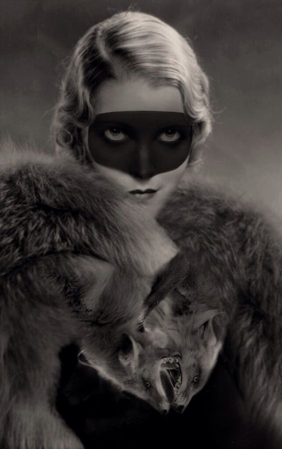 black masked foxy lady.
