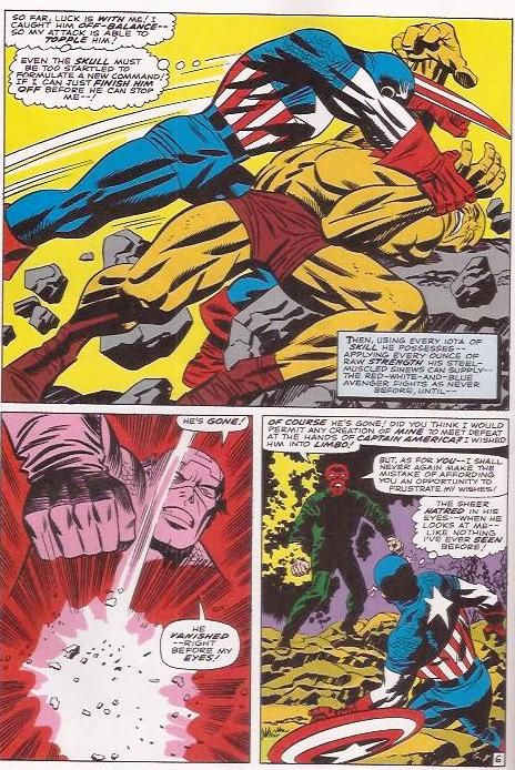 Explosive artwork by Jack Kirby Captain America in action Tales of Suspense #81 September 1966