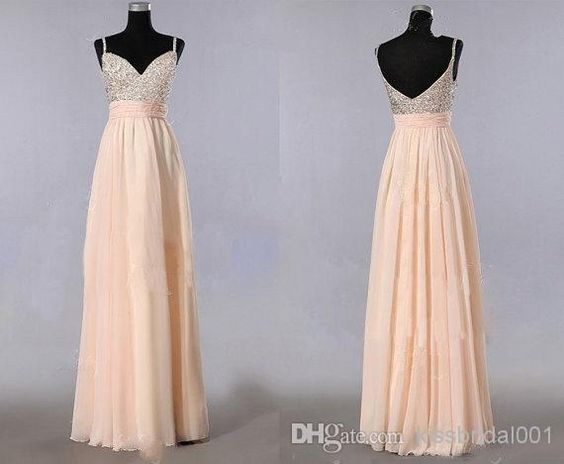 Cheap 2014 Prom Dresses - Discount New Arrival Long Prom Dresses 2014 Evening Gowns Sequins A Line Spaghetti Straps Zip Back Floor Length Chiffon Bridesmaid Dresses Plus Size Online with $104.46/Piece on Kissbridal001's Store | http://www.riririk.com/Goods/Goods/id/3375134.html