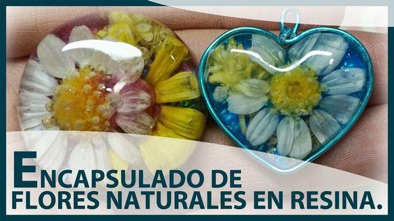 Colgantes de resina y flores naturales