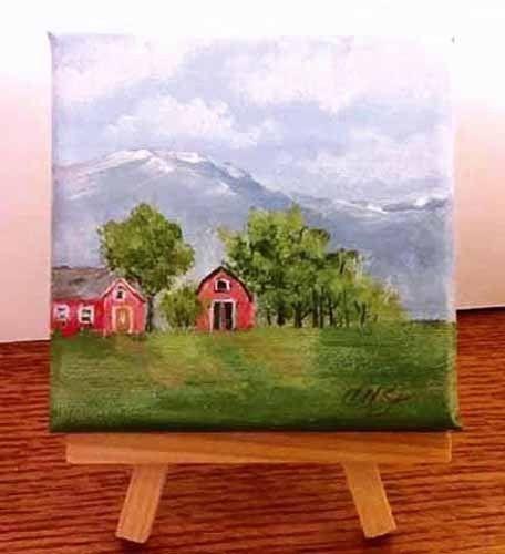 Original Art Landscape Painting Acrylic On Canvas Signed By Artist Canvas Painting Landscape Nature Paintings Acrylic Nature Canvas Painting