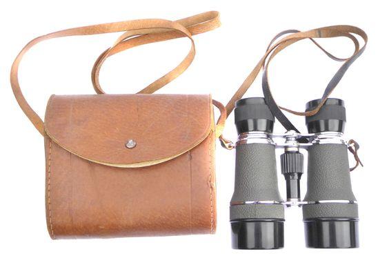 Vintage Binoculars 1960s Pair of BKK Japan Aintree 4x40 Field Binoculars with…