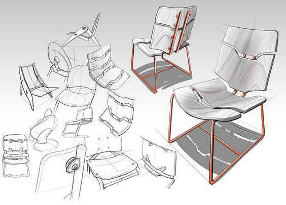 Chair ideation sketch industrial design sketches for Product design chair