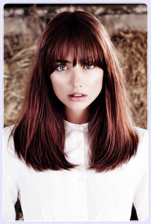 Short Straight Hair With Bangs With Images Hair Styles Long