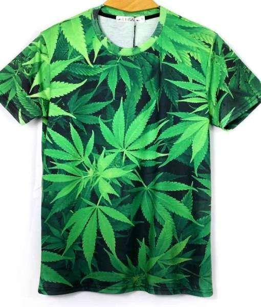 Adults New Weed marijuana cannabis leaf Green Graphic short sleeve T-shirt//Top//T