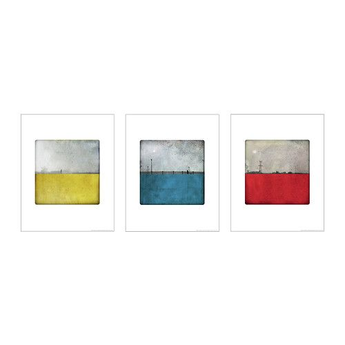 Trilling poster set of 3 ikea motif created by labokoff - Ikea schrankwand weiay ...
