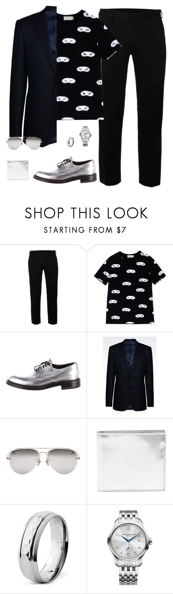 """ML23"" by xemrahv ❤ liked on Polyvore featuring Topman, Maison Kitsuné, Yves Saint Laurent, Armani Collezioni, Linda Farrow, Maison Margiela, West Coast Jewelry, Baume & Mercier, men's fashion and menswear"