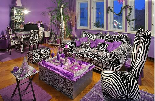 Purple-zebra   NON – L'imprimé total look tue l'imprimé!