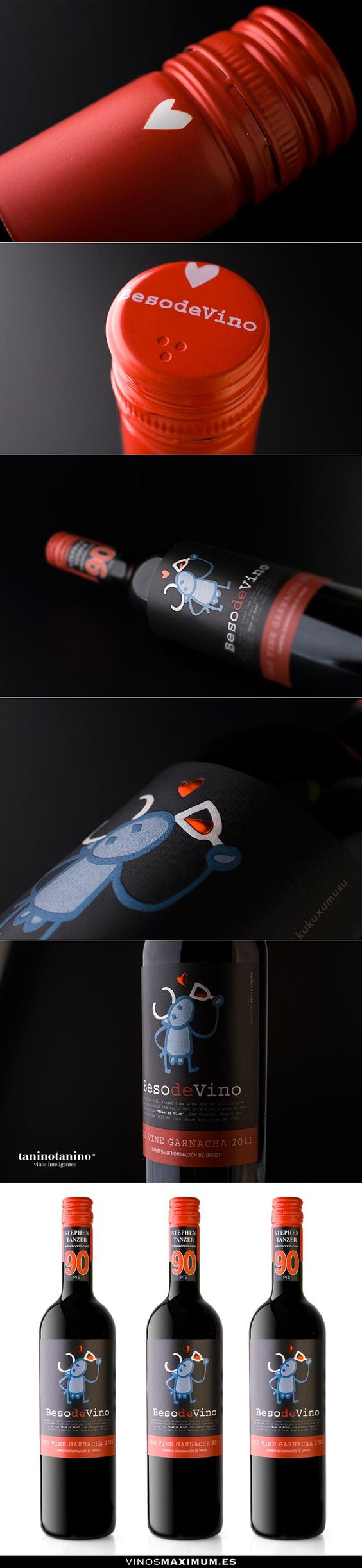 BESO DE VINO - TANINOTANINO VINOS INTELIGENTES - VINOS MAXIMUM Photo by #winebrandingdesign