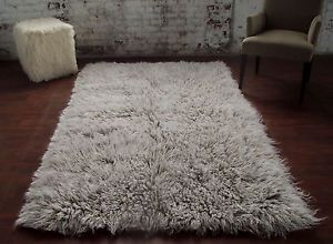 Ultra Plush Gray White Blend Flokati Shag Rug For Those Who Want