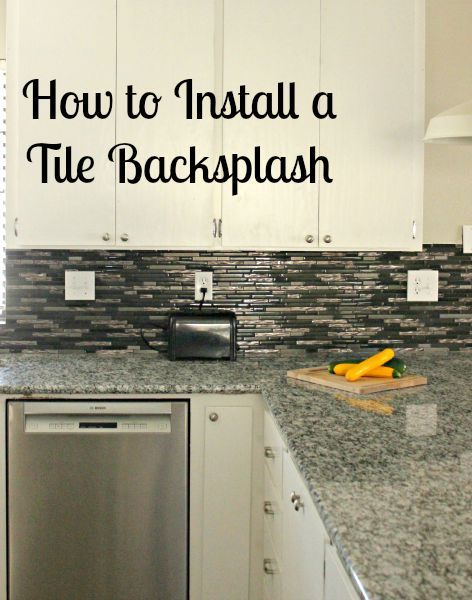 how to install a tile backsplash with video tutorial