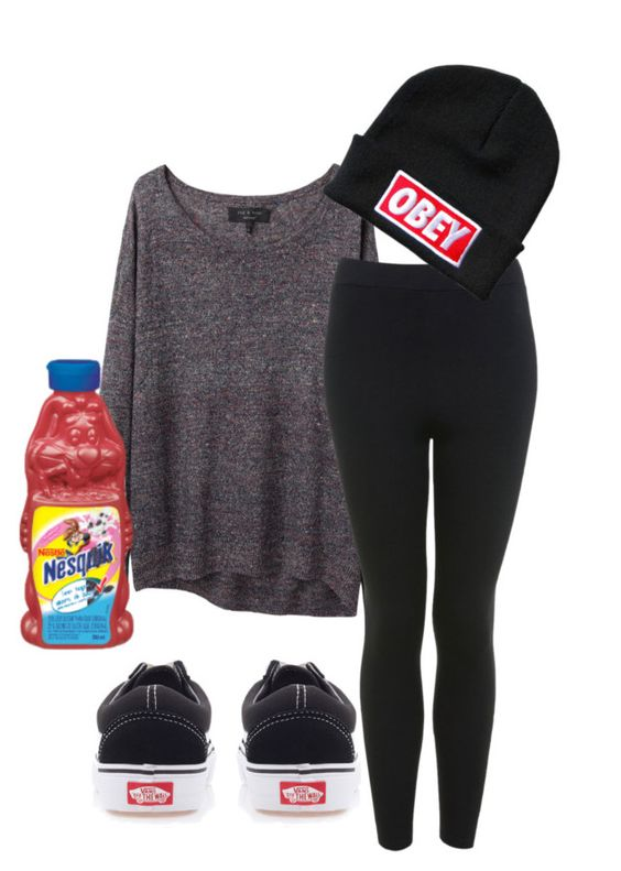 """""""never give up"""" by radiantily ❤ liked on Polyvore featuring rag & bone, Vans, Miss Selfridge, OBEY Clothing and Nestlé"""