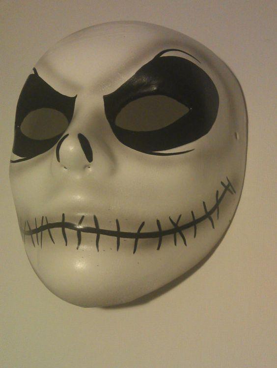 Nightmare Before Xmas - Jack Skellington mask - in Burton Image - wearable - Creepy
