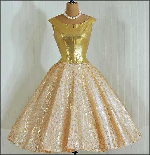3 holiday formal vintage cocktail dresses gold - My Style ...