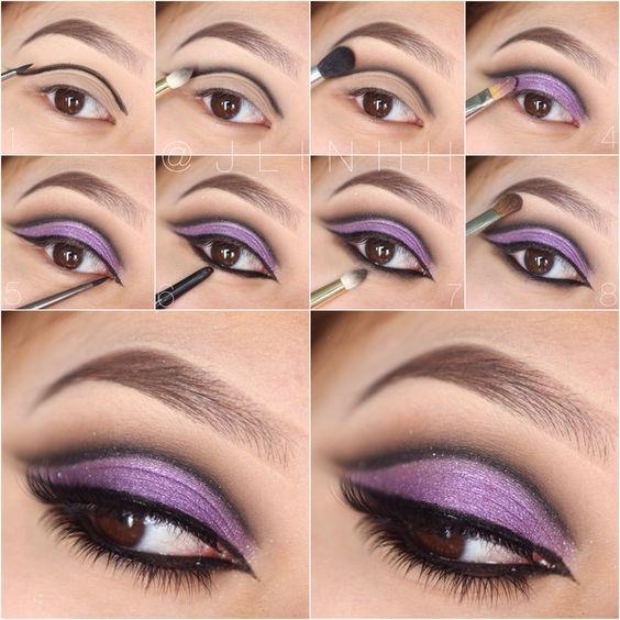 Pictorial | purple cut crease
