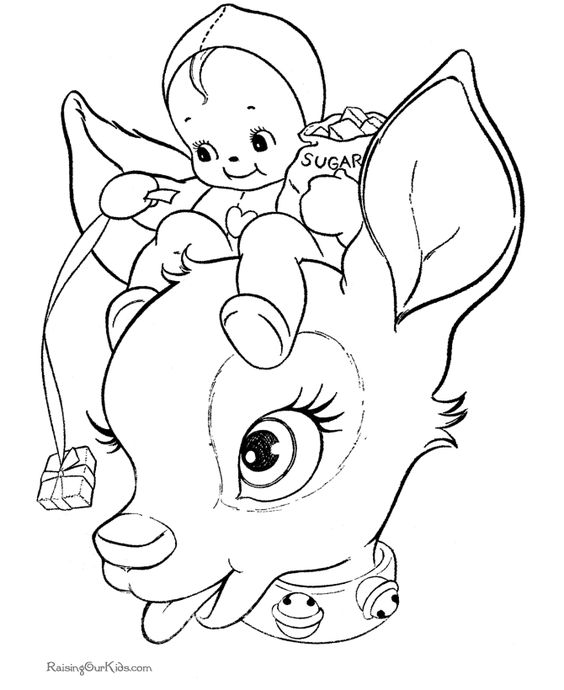 coloring pages reindeer mini - photo#18