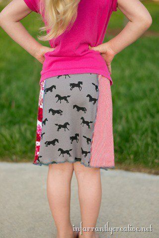 easy tee shirt skirt tutorial
