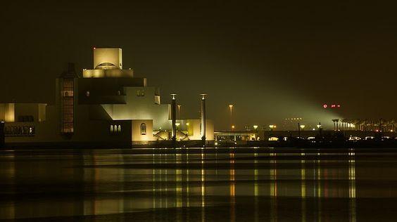 魚腸劍譜: 天啊,貝聿銘九十多歲了,還在蓋大型建築!卡達首都多哈的伊斯蘭藝術博物館