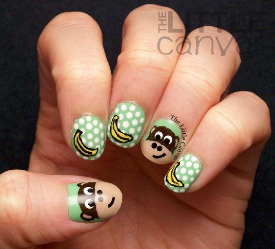 monkey nail art   The Manicured Monkey: Guest Post: The Little Canvas! (MONKEYS!!)