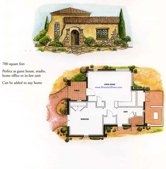 Tuscan estates floor plan villette casita floor plan for Small casita designs
