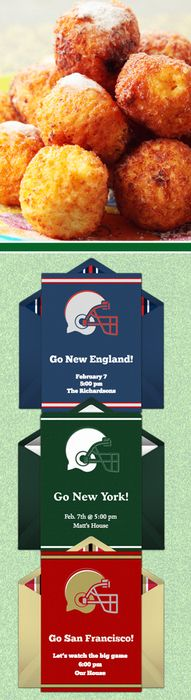 Paper invites are too formal, and emails are too casual. Get it just right with online invitations from Punchbowl. We've got everything you need for your Super Bowl party.   http://www.punchbowl.com/online-invitations/category/32/?utm_source=Pinterest&utm_medium=24.5P