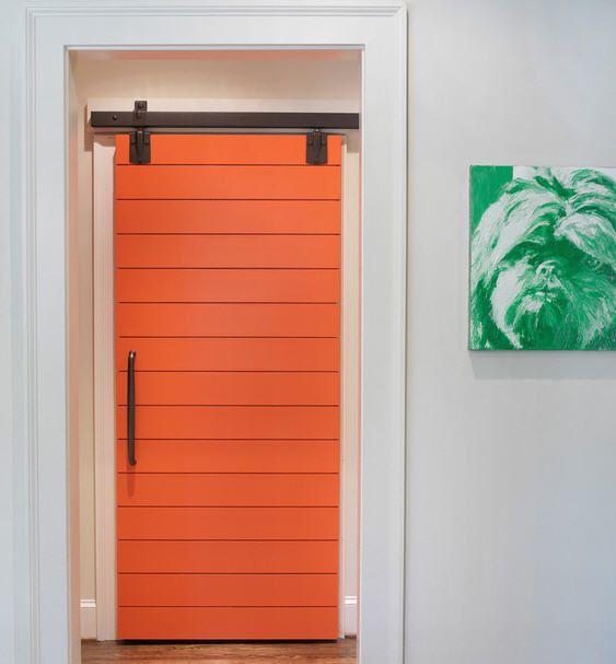 Rustic inspiration 11 sliding barn door designs for Door design with groove