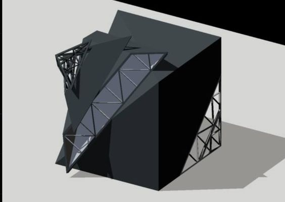 Basic Design 2اساسيات التصميم المعماري التسليم الاول النمط الهندسي وترجمته ثلاثية الابعاد