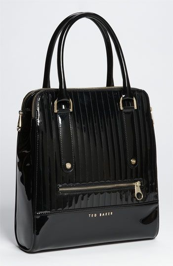 ♥ | London Quilted Patent Shopper by Ted Baker.