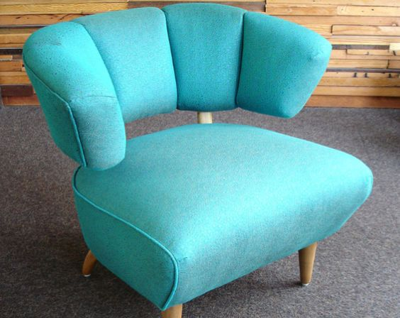 chairs from 50's | This 50's Boudoir Chair is upholstered in hybrid (rayon/recycled ...