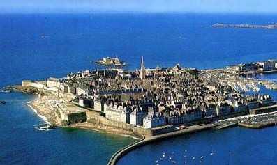 St. Malo - France.  The pirate city of France.   Stopped here today.
