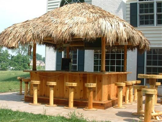 Simple steps to build cheap tiki bar smart home for Cheapest roof to build