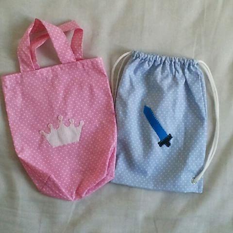 Sacolinhas e mochilinhas da Mimim...