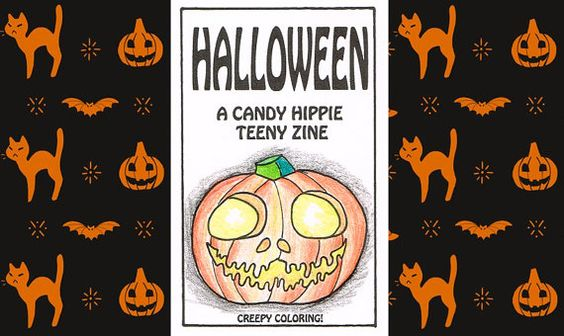 #Halloween #Teeny #Zine: a little eight-page #printable #coloringbook by #CandyHippie