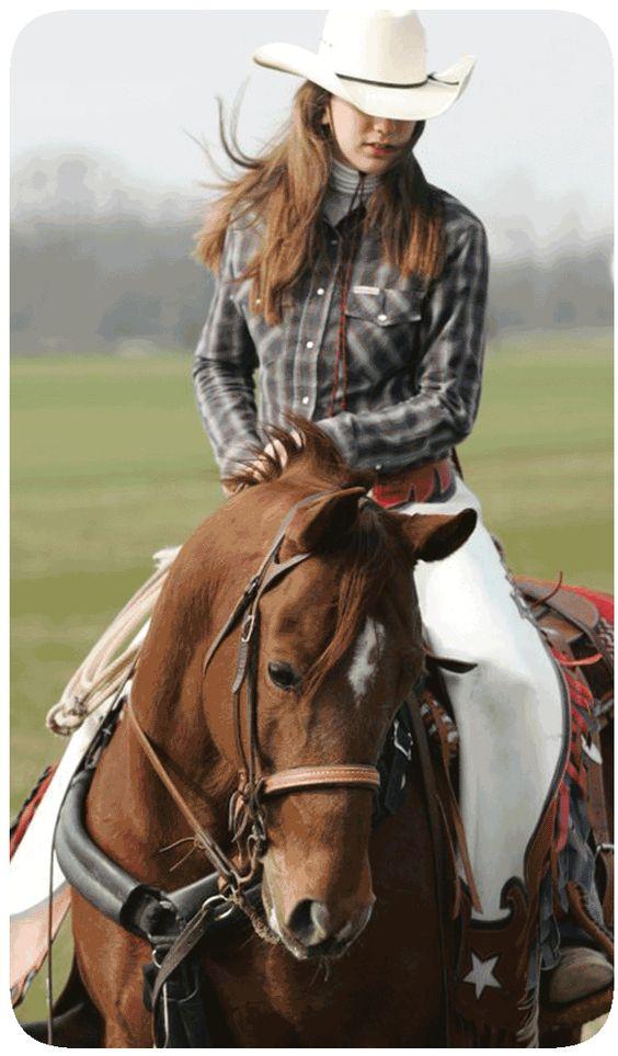 Cowgirl riding cowboy-3373