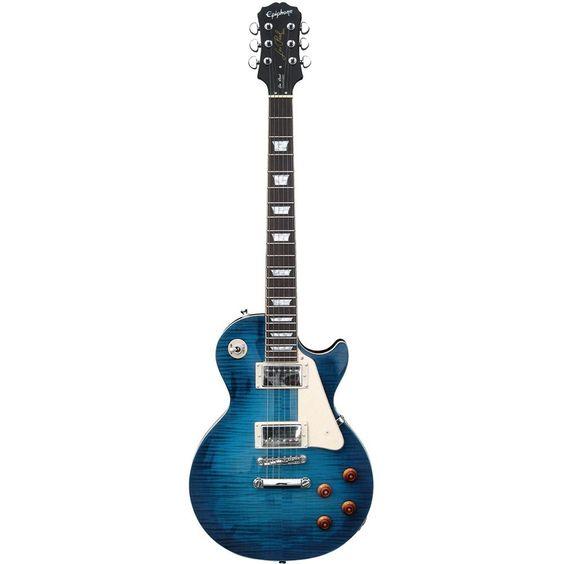 Epiphone Les Paul Standard Plus Top Pro, Translucent Blue #epiphone #guitar