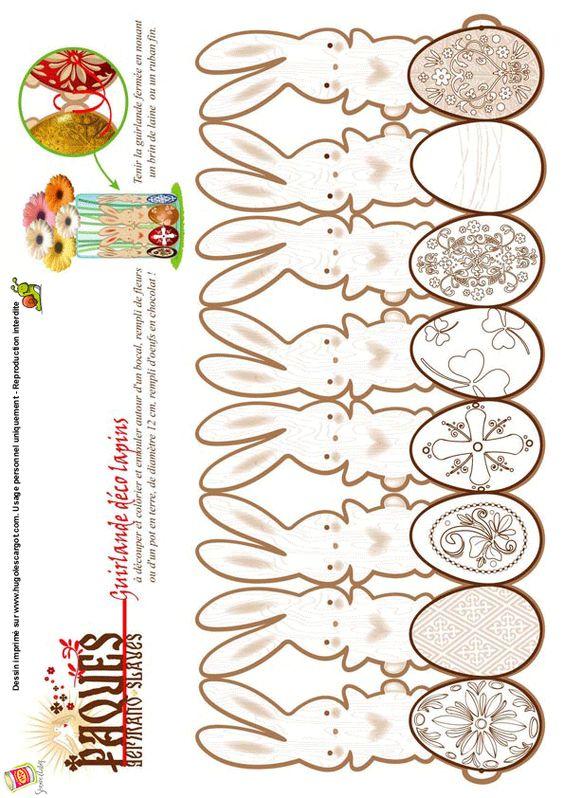 ... paques guirlande coloriages paques pâques sur pâques oeufs l école